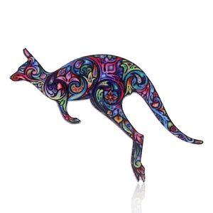 Beautiful Colorful Kangaroo Pin Brooch